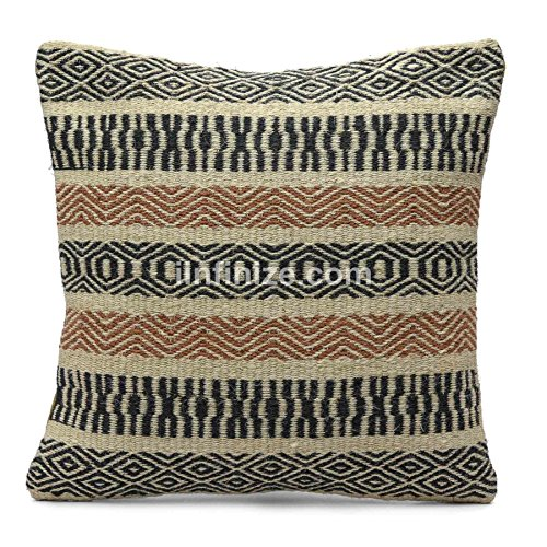 Handmade Sham - Indian Cotton Zig Zag Strip Design Decorative 18x18