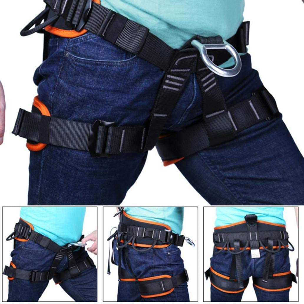 Outdoor Rescue Rock Climbing Belt Safety Rappelling Harness HOT Adjustable