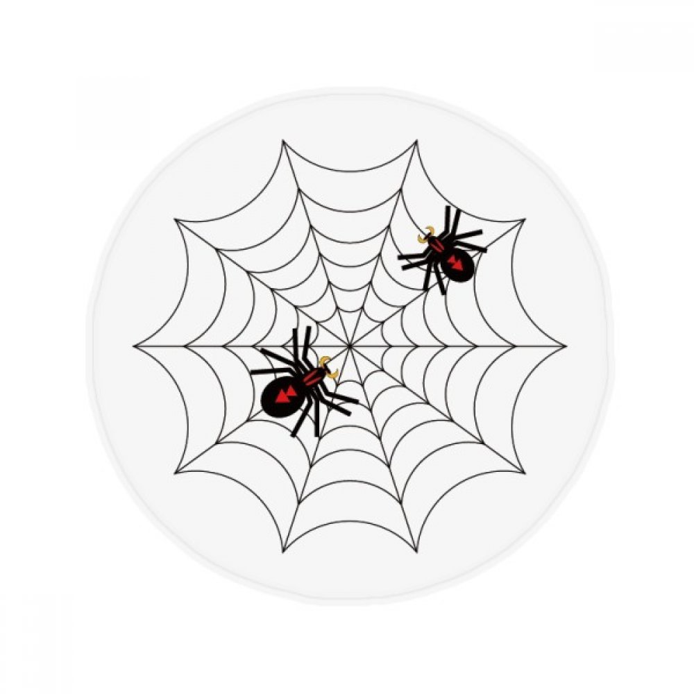 60X60cm DIYthinker Insect Spider Black Cobweb Illustration Anti-Slip Floor Pet Mat Round Bathroom Living Room Kitchen Door 60 50Cm Gift