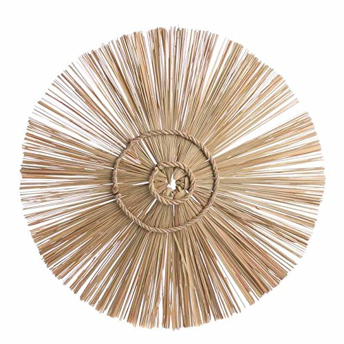 Factory Direct Craft Set of 6 Handcrafted Natural Straw Sunbursts Wall Decor from Factory Direct Craft