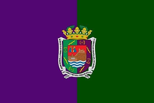 magFlags Bandera Large Málaga Andalucía, España Artículo 4º   Bandera Paisaje   1.35m²   90x150cm: Amazon.es: Jardín