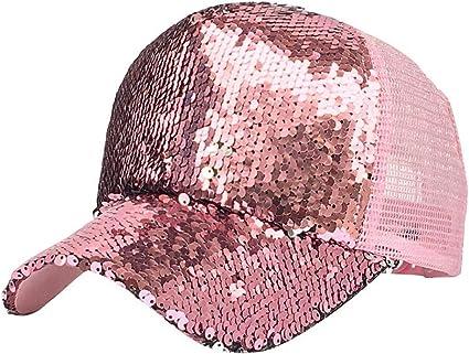 TINGSU - Gorra de béisbol con lentejuelas brillantes para mujer ...
