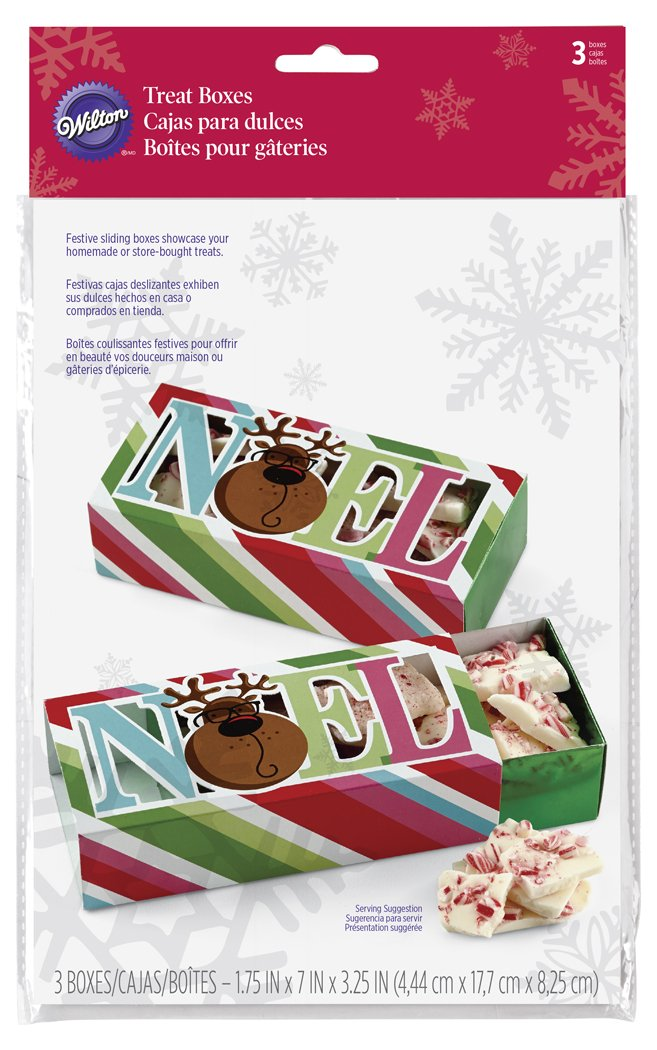 Amazon.com: Wilton 415-2336 3 Count Christmas Sweet Holiday Sharing Sliding Treat Boxes: Kitchen & Dining