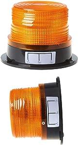 XGao Super Bright LED Strobe Light, Car Warning Lights, Amber Emergency Flash Warning Beacon Light with 12V-24V Lighter Plug with Magnetic Base for Truck Vehicle School Bus