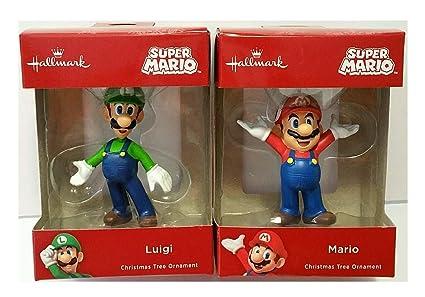 Amazon.com: Ornaments Hallmark Super Mario and Luigi Christmas Tree ...