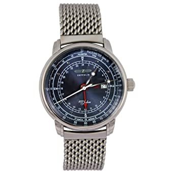 Zeppelin Hombre Planeador Reloj 100 años con Milanaise pulsera 7646 M de 3: Amazon.es: Relojes
