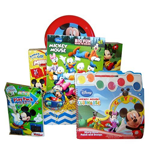 Gift Basket for Kids Mickey Mouse Activity Birthday, Get Well Gift Baskets for Children