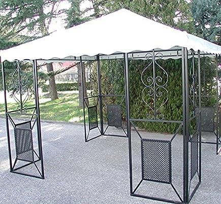CRUCCOLINI Linea Jardín Friendly Carpa 4 x 4 de Hierro Forjado: Amazon.es: Jardín