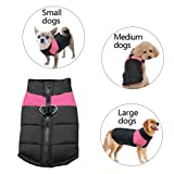 Berry Winter Warm Pet Jackets Coats for Small Medium Large Dogs Pink,5XL