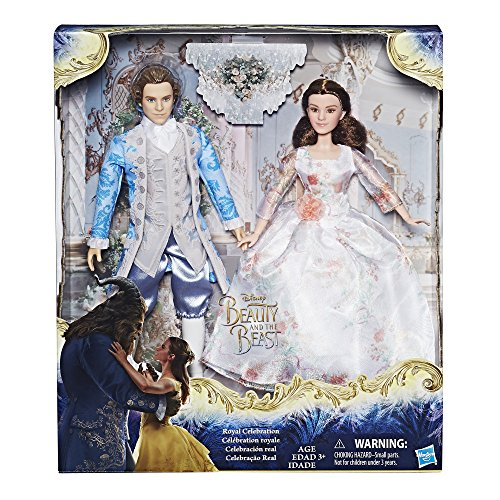 Hasbro Disney Beauty and The Beast Royal Celebration Princess Doll ~ Belle & Prince