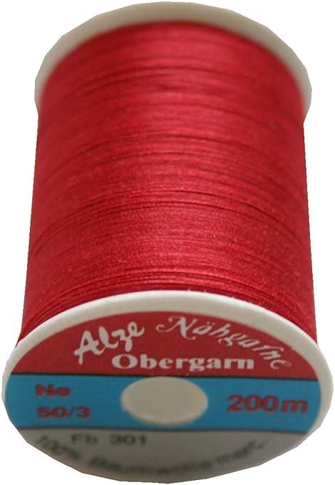 Máquina de coser (exterior de hilo algodón 50/3 200 m rojo (0905 ...