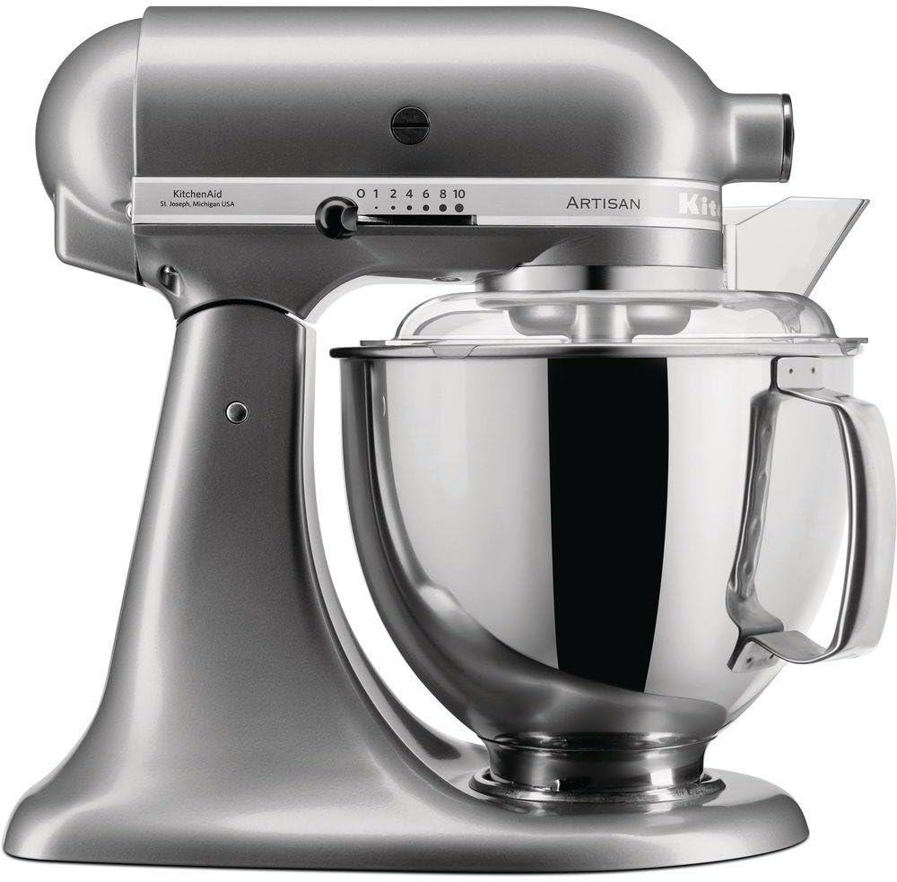 KitchenAid 5KSM175PSECU - Robot de cocina (4,8 L, Negro, Ónice, palanca, 58 RPM, Amasar, Mezcla, Remover, AC)