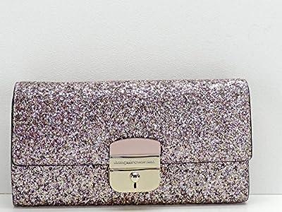 Kate Spade New York Pink Glitter Sunset Lane Milou Wallet Clutch + Chain