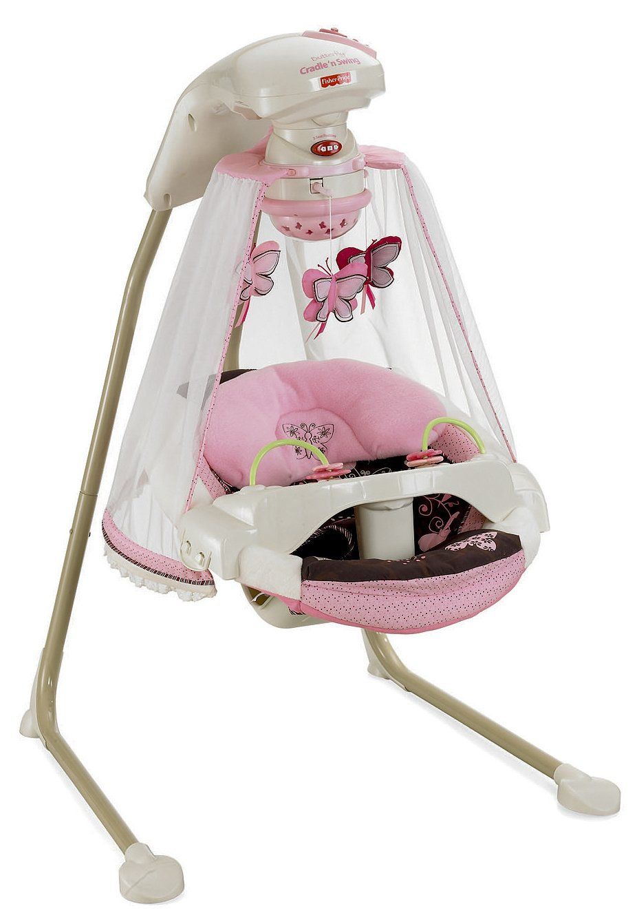 Fisher-Price Papasan Cradle Swing, Mocha Butterfly T4522