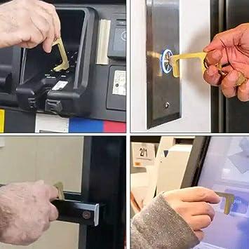 Portable Hygiene Non-Contact EDC Door Opener Elevator Keychain Tool Handle Key