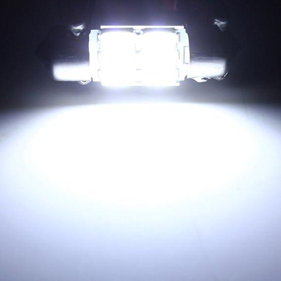 MASUNN 31mm 5630 6 SMD Girlande Dome Karte Interior LED Gl/ühbirne