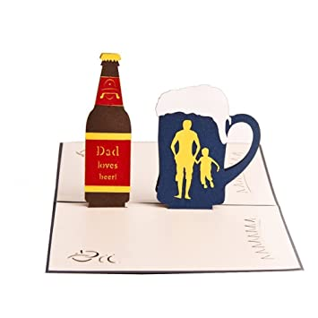 Amazon Swibitter Fathers Birthday Greeting Card Beer Card For