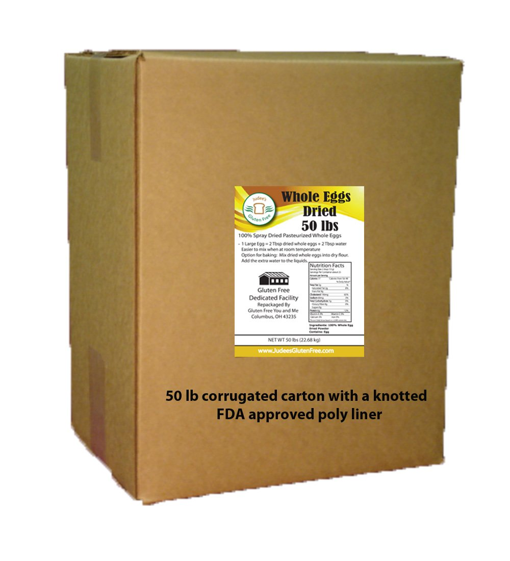 50 lb Bulk Whole Egg Powder (Non-GMO, Pasteurized, Made in USA, 1 Ingredient no additives, Produced from the Freshest of Eggs)
