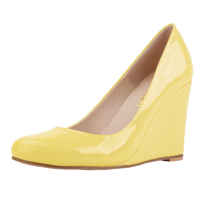 Womens Zbeibei Women's Round Toe Wedges Platform Shoes High heels Dress Pumps Clearance Sale Size 37