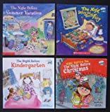 Natasha Wing Set of 4 Children's Picture Books (The Night Before Summer Vacation ~ The Night Before Kindergarten ~ The Night Before the Night Before Christmas ~ The Night Before the Tooth Fairy)