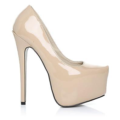 offrire sconti bellissimo aspetto prezzo più economico Scarpe Donna in Ecopelle PU Vernice Color Carne Tacco a Spillo ...