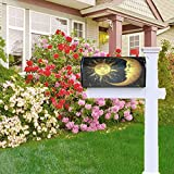 Golden Sun Moon and Stars Mailbox Covers, Magnetic