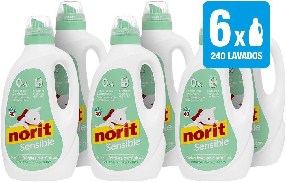 Norit Detergente Especial Pieles Sensibles 40 Lavados - [Pack de 6 ...