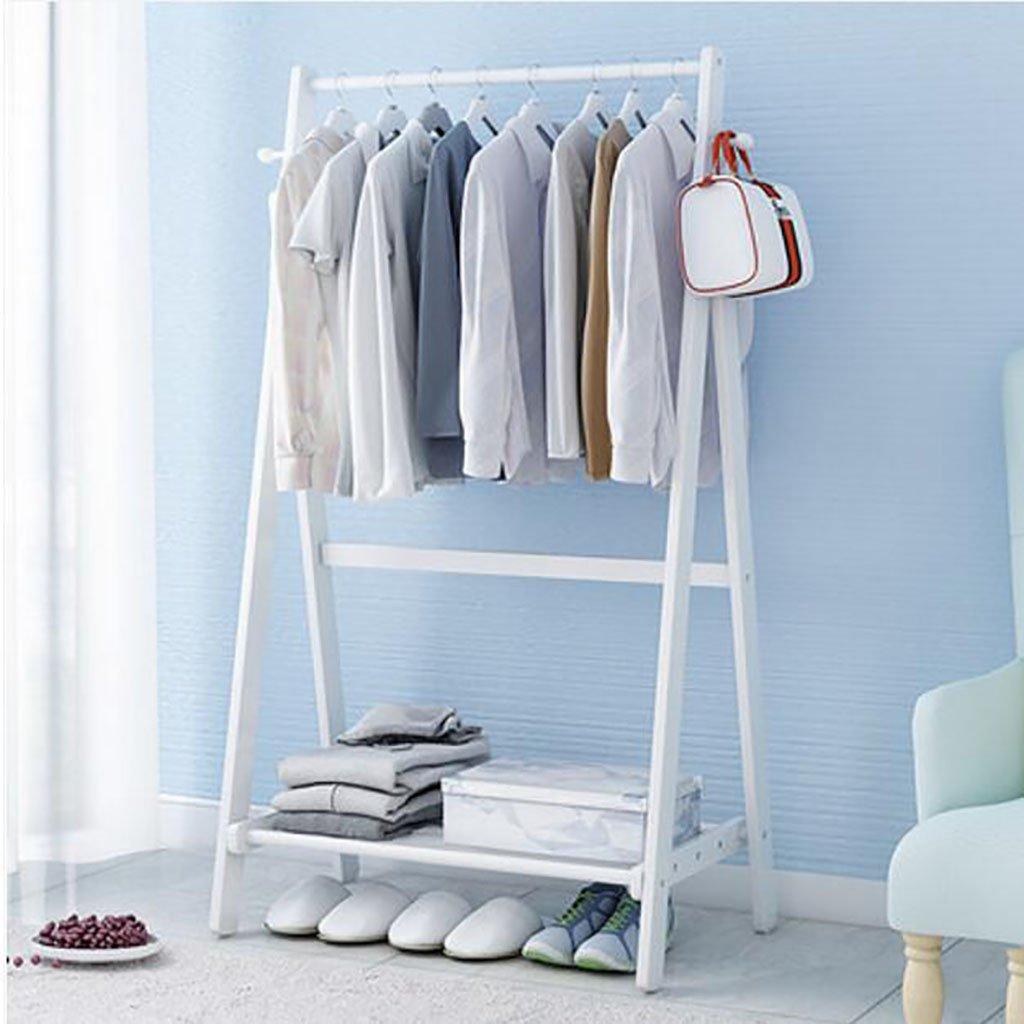 B 1508051cm Hanger Floor Bedroom Modern Simple Coat Rack Floor Bamboo Set Rack Mobile Clothes Hanger (color   B, Size   150  80  51cm)