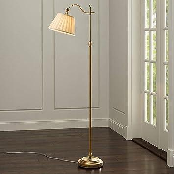 HhGold Vintage Style Antik Messing & Stoff Stehlampe Schlafzimmer ...