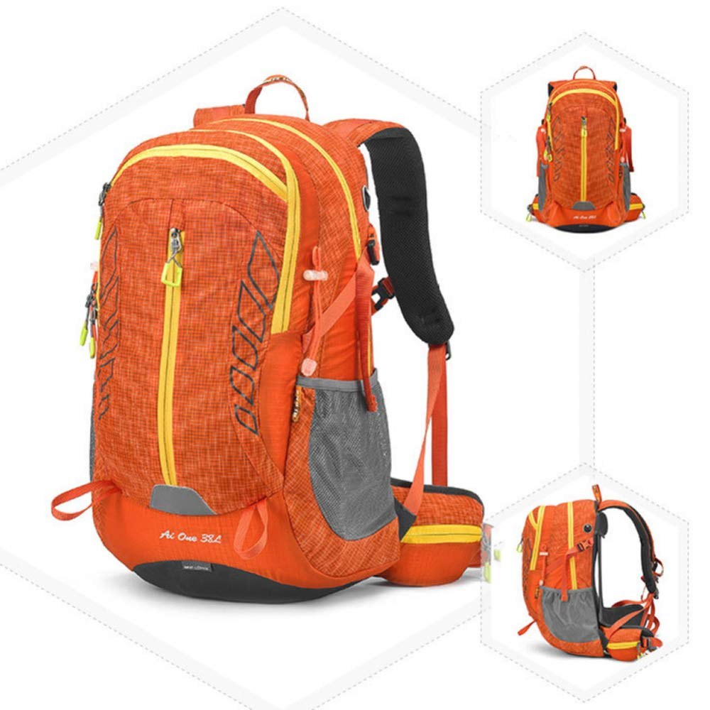 Mountaineering bag Outdoor-Bergsteigen-Tasche, Multi-Funktions-Wasserdichte Tragbare Outdoor-Tasche 20-35L (40  20  52 cm) Multi-Farbe Optional,Orange