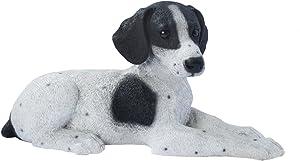Design Toscano Black and White Pointer Puppy Dog Statue, Multicolored
