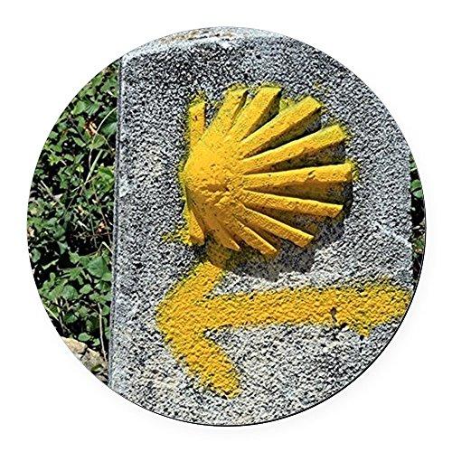 CafePress - El Camino de Santiago de Composte Round Car Magnet - Round Car Magnet, Magnetic Bumper Sticker (El Camino Decals)