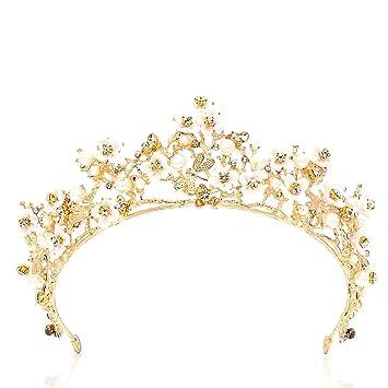 Vintage Baroque Wedding Bridal Bridesmaid Dragonfly Women Girls Gold Crystal Tiara Crown Headbands