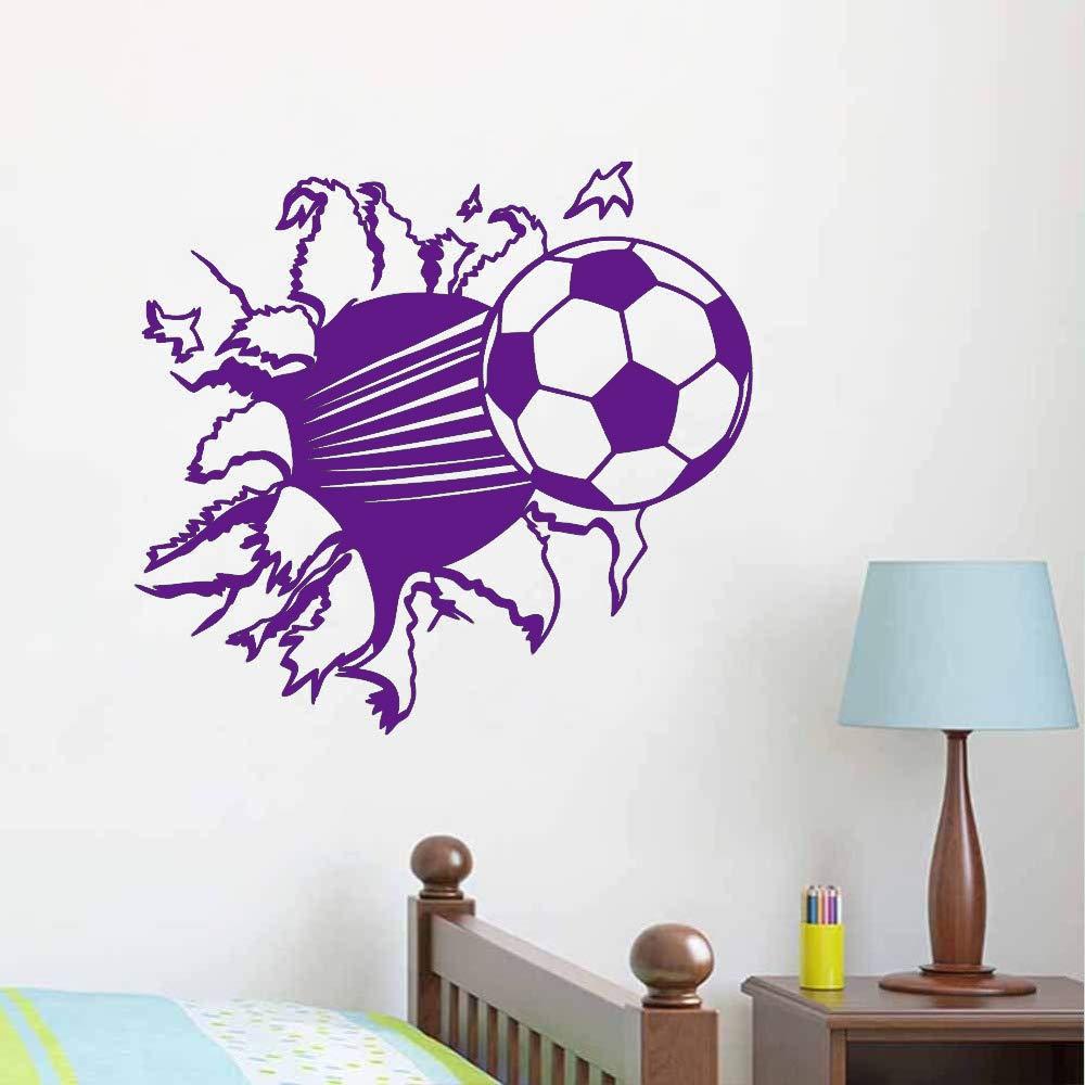 3 d fútbol papel de vinilo extraíble sala de estar dormitorio ...
