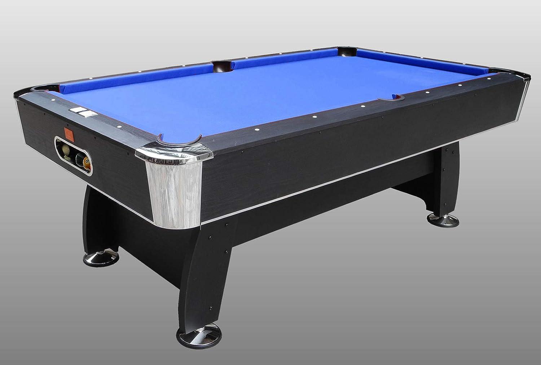 NG Biliardi Mesa de Billar reglamentaria – Black Norman (paño Azul) – r5505 – (216 cm x 123 cm x 82 cm) – Papel Completo de Todos los Accesorios: Amazon.es: Deportes y aire libre