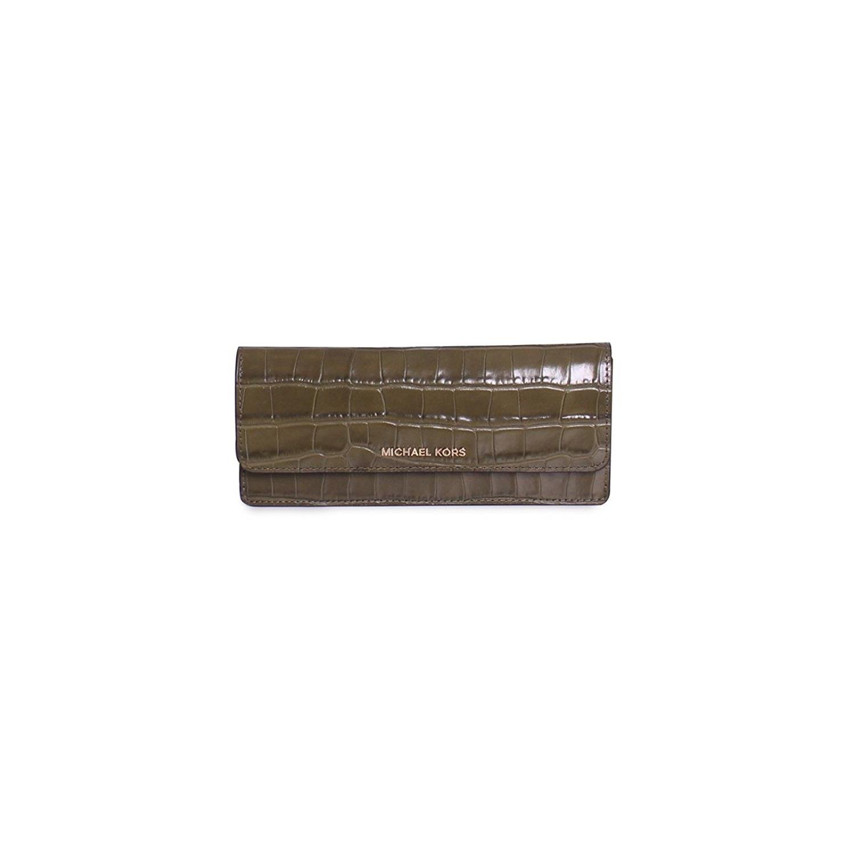 647c43eba9dc Michael Kors Money Pieces Flat Wallet Kenia Embossed Croco (Black) at  Amazon Women's Clothing store: