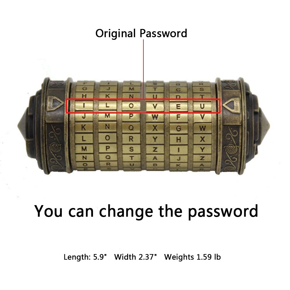 YOFIT Da Vinci Code Mini Cryptex Valentine's Day Interesting Creative Romantic Birthday Gifts For Her by YOFIT (Image #2)