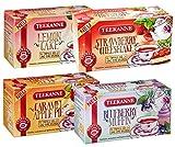 Teekanne Fruit Tea ''Sweeteas'' Set of 4 - Strawberry Cheesecake, Blueberry Muffin, Caramel Apple Pie, Lemon Cake (4x 40,5g)