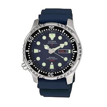 Citizen Reloj Analógico para Hombre de Automático con Correa en Plástico NY0040-17LE: Amazon.es: Relojes