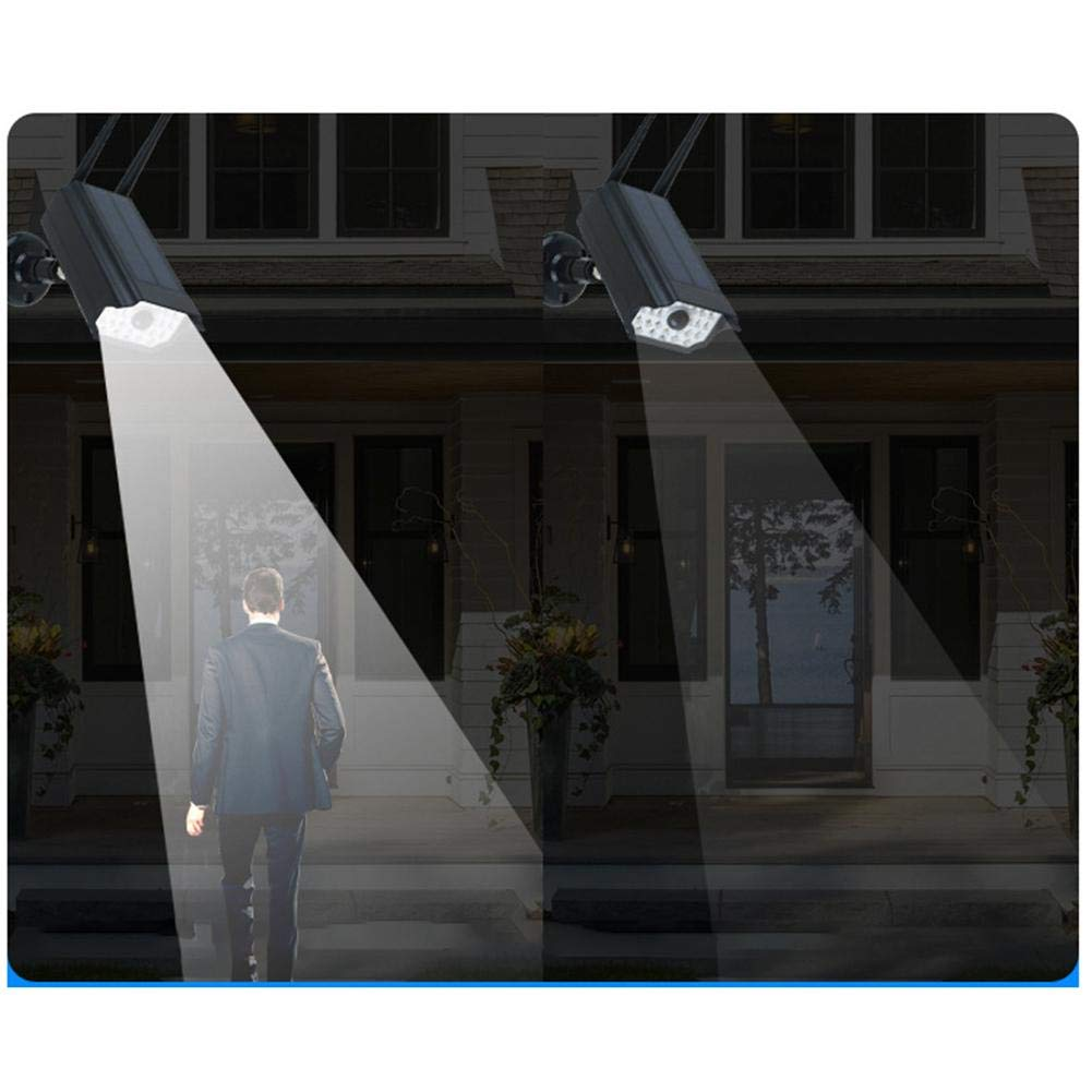 Nrkin Dummy Cameras,Solar Simulated Camera IP66 Waterproof Surveillance LED Light Fake Dummy Dome Home Security Camera