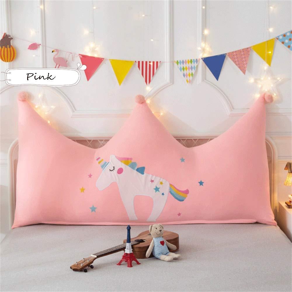 JXQ Haushalts baumwolle prinzessin bett kopfstütze dreidimensionale handtuch stickerei kinderzimmer kissen sofa rückenlehne abnehmbar und waschbar, 3 größen & 8 farben ( Color : A , Size : 120*80CM )