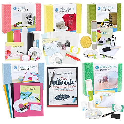 Beginner Starter Kit Bundle with Ultimate Silhouette Cameo Guide Book by Silhouette