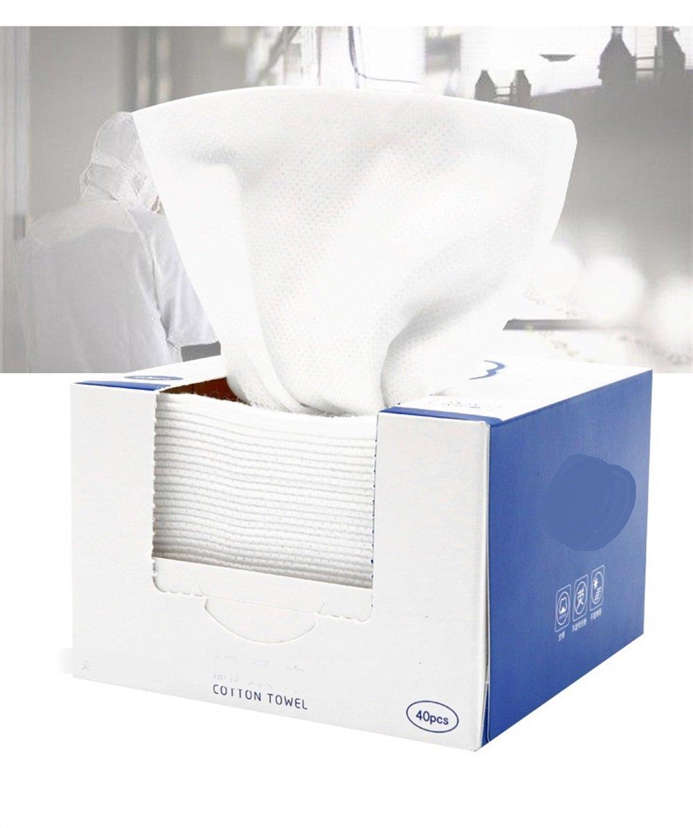 Limpieza de algodón Tejido Facial suave de viaje portátil Telas no tejidas Blancas Cosmética Maquillaje Toallitas Desmaquillantes de Limpieza Facial ...