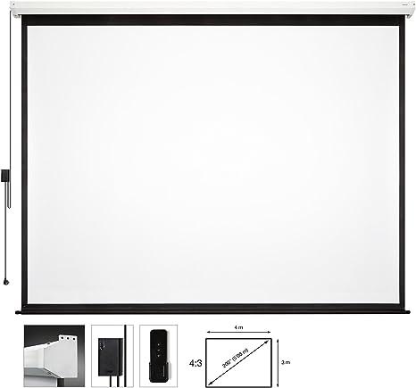 Fonestar PPEL-43200-BA - Pantalla de proyección eléctrica: Amazon ...