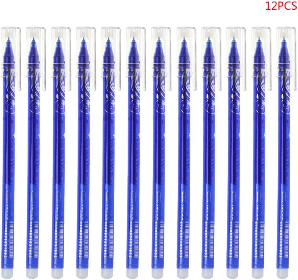 Punta Media da 0,38 mm blu set di 12 Penna Gel Baiyao Adatto per studenti dufficio Testo Premium Penna Gel Cancellabile