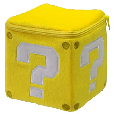 Sanei Super Mario Plush Pouch Series: Coin Block: Toys & Games [5Bkhe0902713]