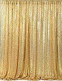 QueenDream Gold Sequin Backdrop Photography for Wedding -8ft x 8ft Photography backdrops Gold Sequin Backdrop