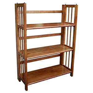 "Casual Home 3-Shelf Folding Stackable Bookcase 27.5"" Wide"