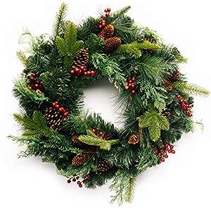 CraftMore Homestead Pine Christmas Wreath - 24 Inch 22