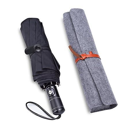 Paraguas, paraguas plegable a prueba de viento con 10 costillas fuertes para el viaje,